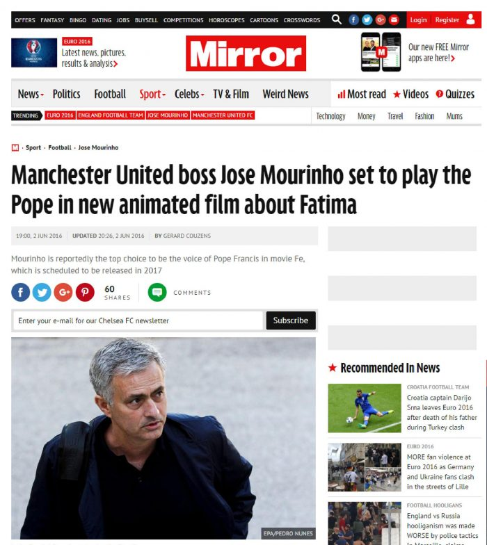 Mirror - Mourinho
